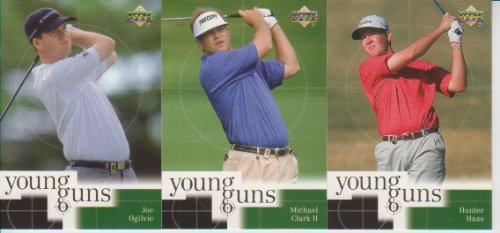 (2001 Upper Deck Golf Young Guns 3 Card Lot Joe Ogilvie #71,84,87 )