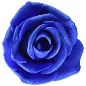 "Homeford FNS000008112RYBL Foam Roses Flower Head Embellishment, 1-1/2"", Royal Blue 75"