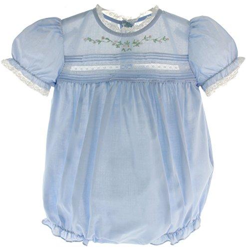 - Feltman Brothers Infant Girls Blue Bubble Outfit Lace Trim 9M
