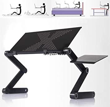 Amazon Com 360 Adjustable Foldable Laptop Notebook Desk Table W Fan Hole Stand Bed Tray New By Ww Shop Office Products