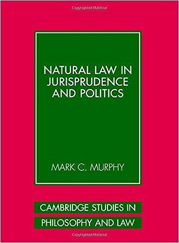 Natural Law in Jurisprudence and Politics (Cambridge Studies