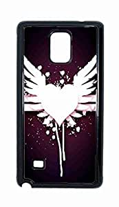 angel wings Snap-on Hard Back Case Cover Shell for Samsung Galaxy Note 4 -2080
