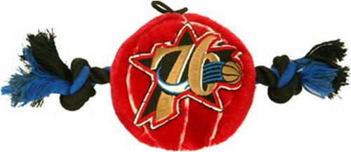 (NBA Philadelphia 76ERS Plush Basketball Pet Rope Squeak Toy)