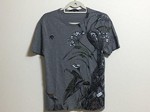 (グッチ) GUCCI Tシャツ 半袖Tシャツ レディース グレー×黒×マルチ 【中古】 B07F486J5P  -