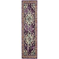 Safavieh Monaco Collection MNC243L Vintage Bohemian Violet and Light Blue Distressed Runner (22 x 6)