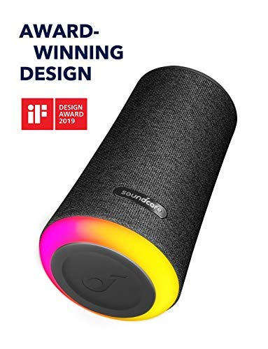 Soundcore Flare+ Portable 360° Bluetooth Speaker by Anker, Huge 360° Sound, IPX7 Waterproof, Bigger Bass, Ambient LED Light, 20-Hour Playtime, 4 Drivers with 2 Passive Radiators, Speaker for Parties by soundcore (Image #1)