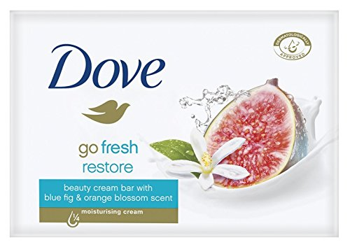 Dove Go Fresh Restore Beauty Bar Soap 3.5 Oz / 100 Gr (Pack of 12 Bars)