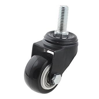 eDealMax Silla de oficina DE 10 mm x 25 mm Con rosca del vástago giratorio de las ruedas giratorias Negro: Amazon.com: Industrial & Scientific