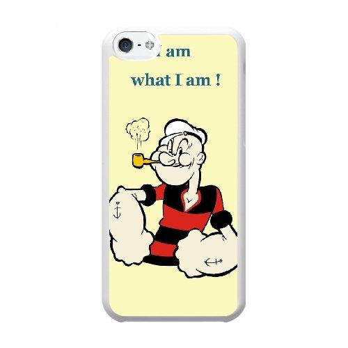 Coque,Coque iphone 5C Case Coque, Popeye Cover For Coque iphone 5C Cell Phone Case Cover blanc