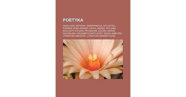 Poetyka Genologia Metryka I Wersyfikacja Stylistyka