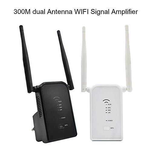 WIFI Range Extender, ZIKO 300Mbs Dual Antenna WIFI Signal Amplifier WiFi Router ExtenderDual Band Wireless Router Extender Wireless Repeater Router Wall Plug Smart Mini WiFi Amplifier by ZIKO (Image #7)