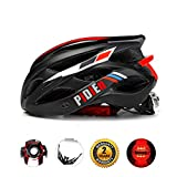 Cheap Pidien Bike Helmet, Ultra Lightweight Adult Helmet with Adjustable Visor, Eco-Friendly Cycle Helmet with Tail Light for Safety Protection