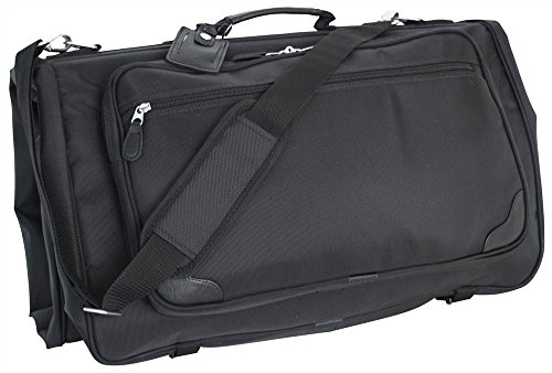 Mercury Luggage Signature Series Tri-Fold Garment Bag,Black