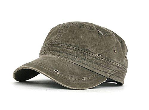 Patrol Cap Khaki (myglory77mall Patrol Combat Army Hat Cadet Military Baseball Sport Cap plain L.Khaki)