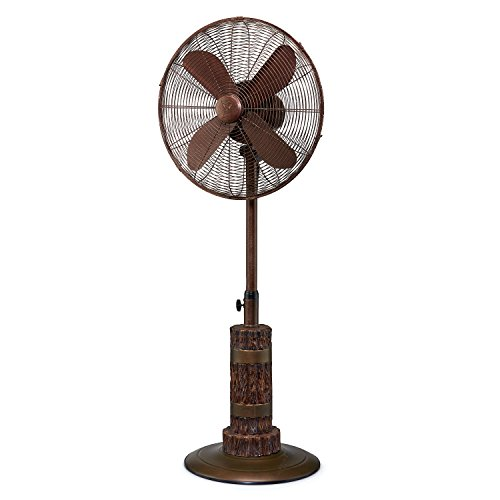 Designer Aire Oscillating Indoor/Outdoor Standing Floor Fan for Cooling Your Area Fast - 3-Speeds, Adjustable 40-51 Inches in Height, Fits Your Home (Outdoor Standing Fan)