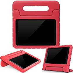 AVAWO Kids Case for Fire 7 2017 - Light Weight Shock Proof Handle Kid-Proof Case for Fire 7 inch Display Tablet (7th Generation - 2017 release), Red