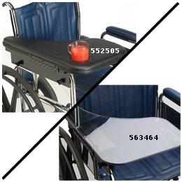 "Flip-Away Half Lap Tray 1"" Padded, Right - Model 552505"