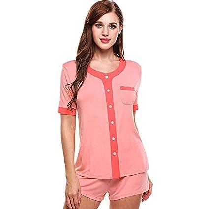 WDDGPZSY Camisa De Dormir/Camisón/Ropa De Dormir/Pijamas/Patchwork O-