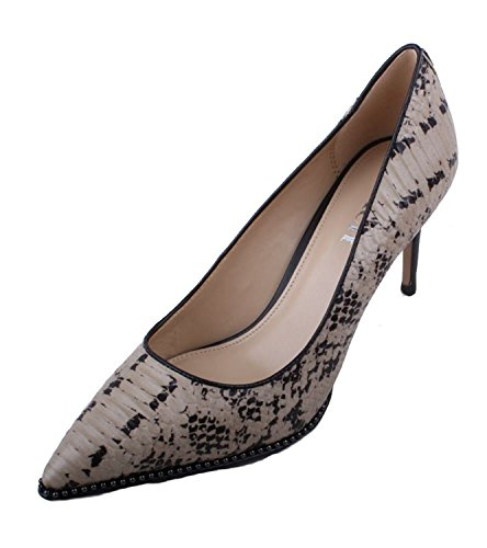 Coach Womens Vonna Leather Pointed Toe Classic Pumps, Cream Snake, Size (Coach Cream)