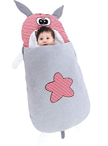 Baby Footmuff Cover Stroller Bunting Bag Cotton Swaddle Blanket Sleeping Wrap for Nursery Daycare