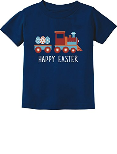 Happy Easter Gift - Easter Egg Hunt Kids Gift Happy Easter Train Toddler/Infant Kids T-Shirt 12M Navy