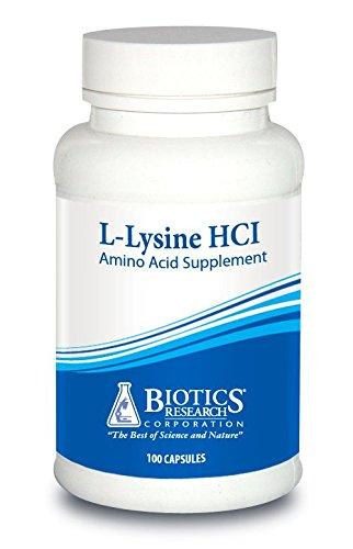 Biotics Research L Lysine HCI - Amino Acid L-lysine Supplement Promotes Energy, Boosts Immunity, Stimulates Calcium Absorption - 100 capsules by BIOTICS