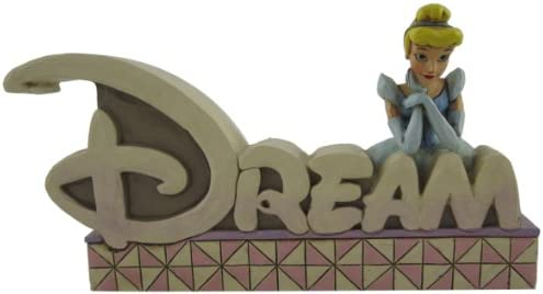 Disney Traditions by Jim Shore Dream Inspirational Word Plaque 4-1 2-Inch