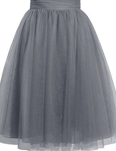 Cdress Women's Tulle Knee Length Short Tutu Skirt Middle A-Line for Prom Party (Length Tutu)