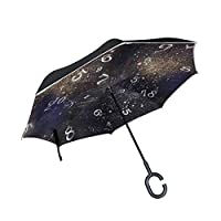 My Daily Double Layer Inverted Umbrella Cars Reverse Umbrella Numbers And Galaxy Windproof UV Proof Travel Outdoor Umbrella