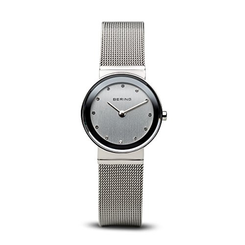 BERING Time 10126-000 Womens Classic Collection Watch with Mesh Band and scratch resistant sapphire crystal. Designed in Denmark.