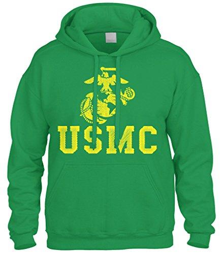 Cybertela United States Marine Corps USMC Sweatshirt Hood...