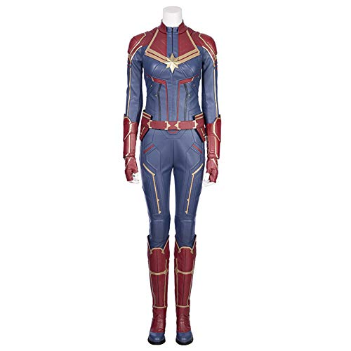 COMShow Captain Marvel Costume Carol Danvers Superhero Cosplay Costume