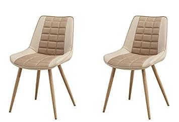 Folkbury estilo nórdico, conjunto de 2 sillas de comedor ...