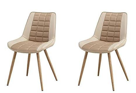 Sedie In Metallo Da Cucina : Folkbury set di sedie in metallo stile nordico scandinavo