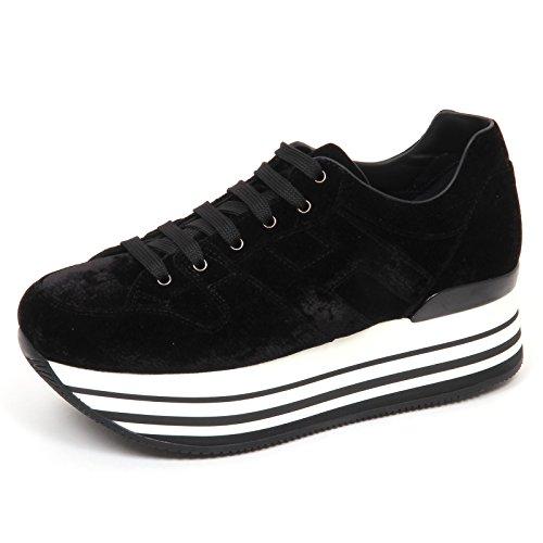 Scarpe Nero E4798 Maxi velluto Nero 222 H283 Woman Shoe Sneaker Donna Hogan Velvet A40qx