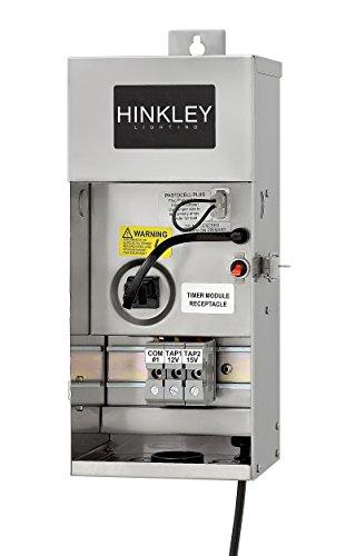 Hinkley Landscape Transformer – Convert 120V AC to 12V AC, For Use with Low Voltage Landscape Lighting, Easy Installation Stainless Steel Landscape Transformer, 0150SS
