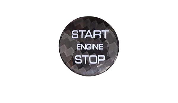 WLKE Real Carbon Fiber Engine Start Buttons Cover Trim for Land Rover Discovery Sport Evoque Black