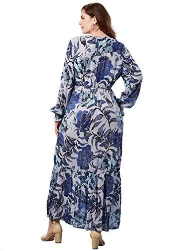 4df2f095c89 Roamans Women s Plus Size Crinkle Maxi Dress