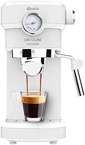 Cecotec Cafetera Espresso Cafelizzia 790 White Pro.Sistema Thermoblock, 20 Bares, ModoAuto 1 y 2 Cafés, Vaporizador Orientable, Conducto de Agua para Infusiones: Amazon.es: Hogar