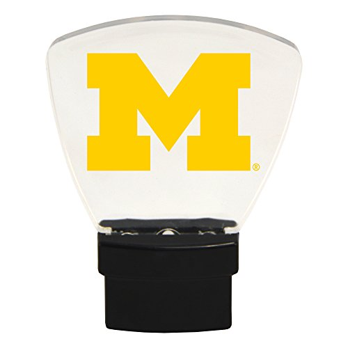 Authentic Street Signs NCAA Officially Licensed-LED NIGHT LIGHT-Super Energy Efficient-Prime Power Saving 0.5 watt, Plug In-Great Sports Fan gift for Adults-Babies-Kids Room (Michigan Wolverines) ()