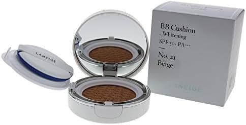 Laneige BB Cushion Whitening SPF 50, 21 Beige, 2 Ounce