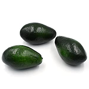 Hagao Artificial Fruit Avocado Simulation Fake Lifelike for Home Party Kitchen Festival Decoration 3 pcs 45
