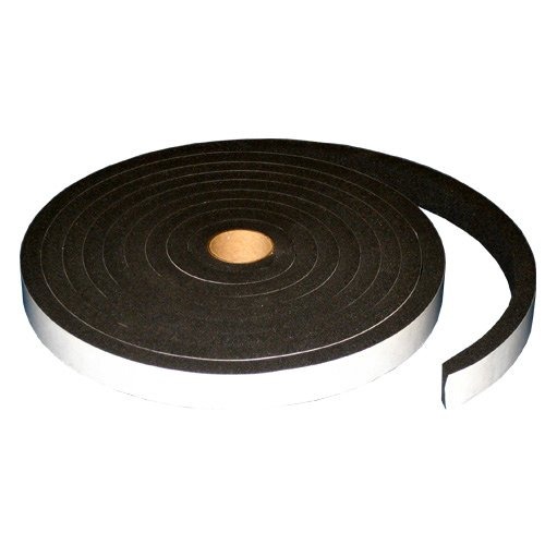 SPONGE NEOPRENE STRIPPING WITH ADHESIVE 1 INCH WIDE X 1/2 INCH THICK X 15 FEET LONG