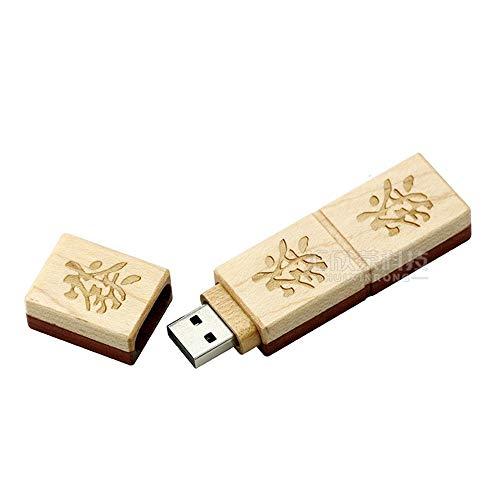 Hexiansheng Mini Mahjong Wooden USB Disk Mahjong Creative Personality Mahjong USB Disk USB Flash Drive Flash Drive USB 2.0 Flash Memory Thumb Stick Swivel USB Drive 10 PCS ( Size : 4GB )