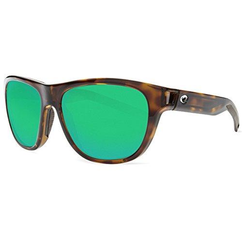 (Costa Del Mar Costa Del Mar BAY10OGMP Bayside Green Mirror 580P Shiny Tortoise Tortoise Frame Bayside, Shiny Tortoise Tortoise Frame, Green Mirror 580P)