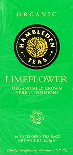 Hambleden Teas Organic Lime Flower 20 Teabags (Pack of 6, Total 120 Teabags)