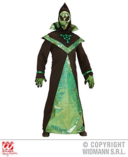 Mens Alien Adult Outfit for Space Sci Fi Fancy Dress Costume (L) Large UK 42/44 by Partypackage (Alien Costume Adults Uk)