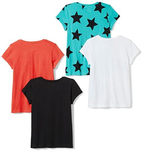 Spotted Zebra Girls' Big 4-Pack Short-Sleeve T-Shirts, Super Girl, Medium (8) by Spotted Zebra (Image #2)'
