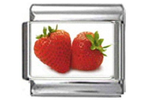 (Stylysh Charms Strawberry Strawberries Photo Italian 9mm Link FO018)