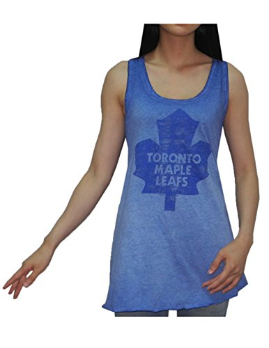 NHL Toronto Maple Leafs Womens Crew-Neck Tank Top (Vintage Look) XL Blue